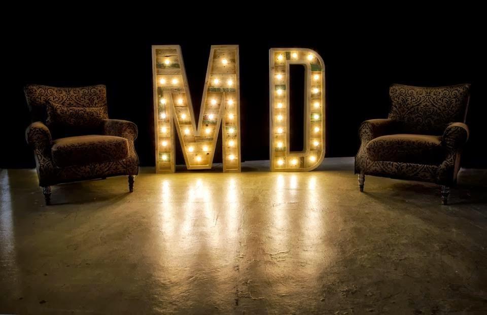 Letras gigantes para tu boda lasbodasdelcarlton - Letras luminosas decoracion ...